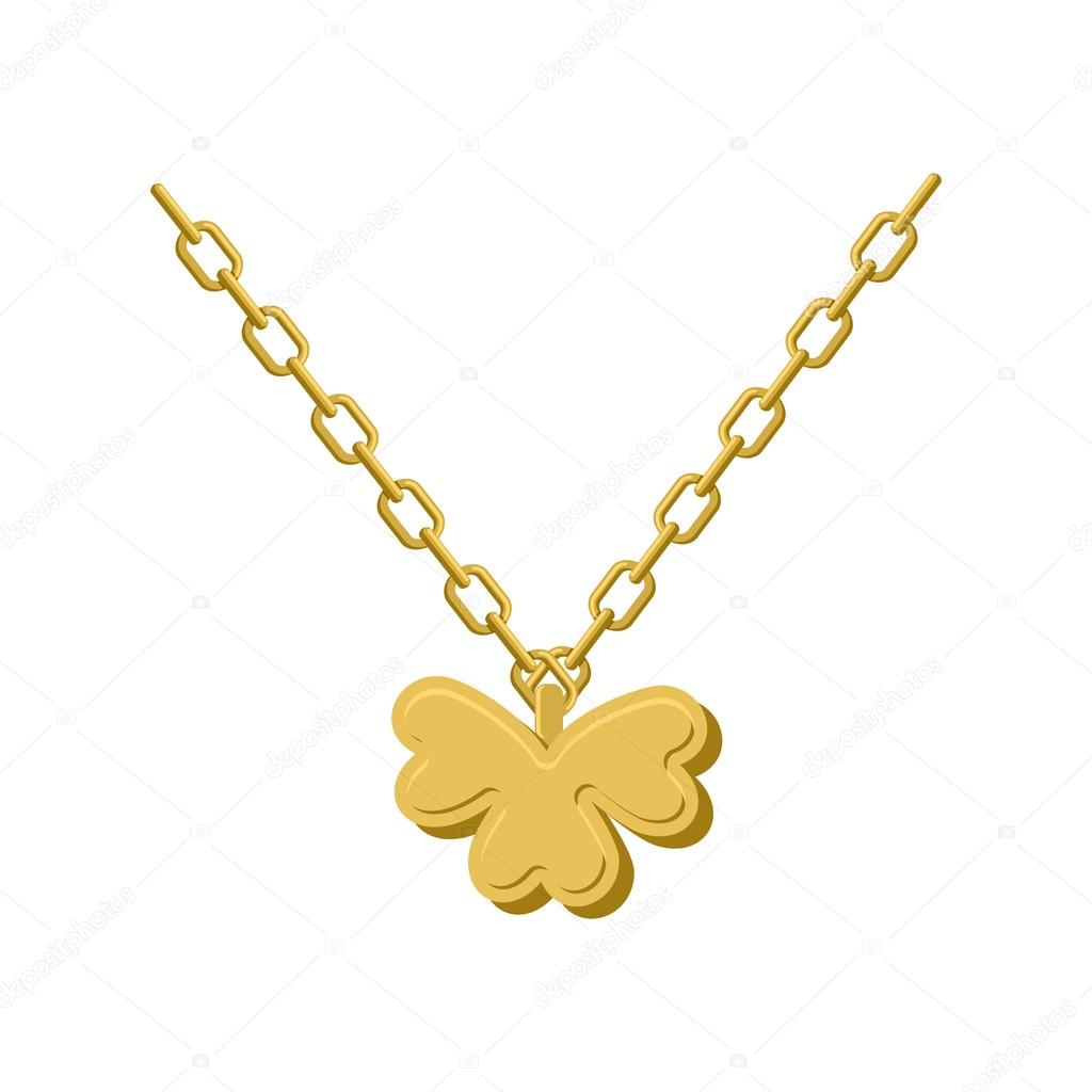 Pendant of golden clover gold chain and pendant symbol of st p pendant of golden clover gold chain and pendant symbol of st p archivo aloadofball Images