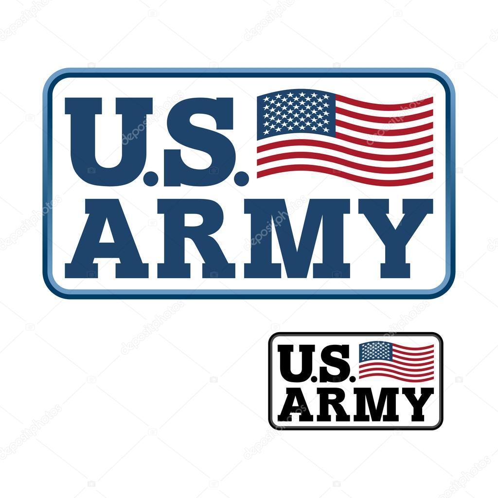 us army emblem for army of america flag of united states ameri rh depositphotos com us military logo vector us army logo vector free