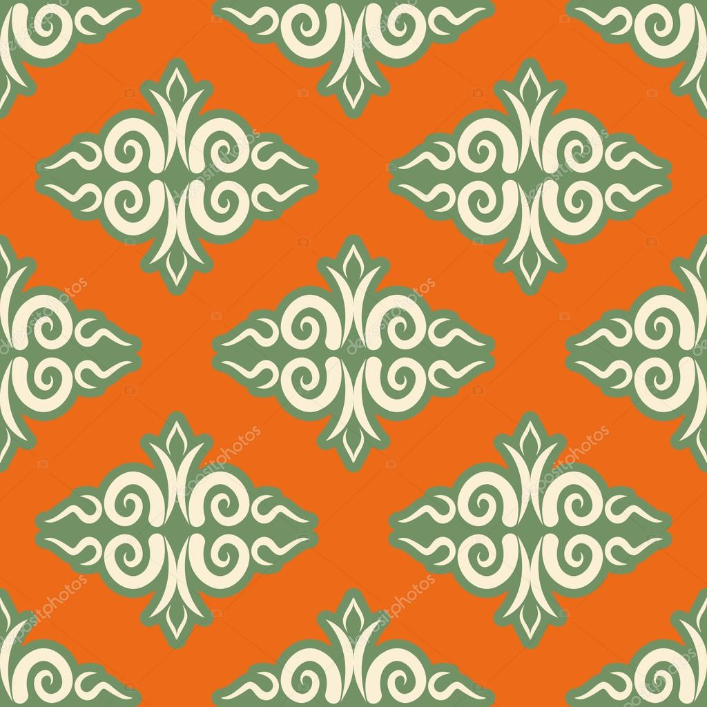 Kazakh pattern. Traditional national background of Kazakhstan. T