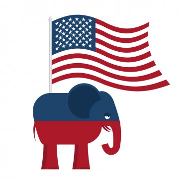 Republican Elephant. Symbol of political party in America. Polit