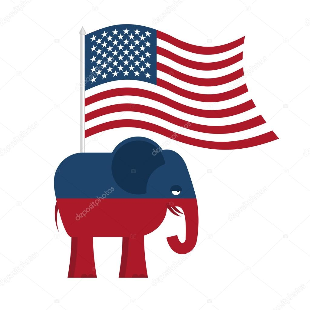 Republican Elephant Symbol Of Political Party In America Polit