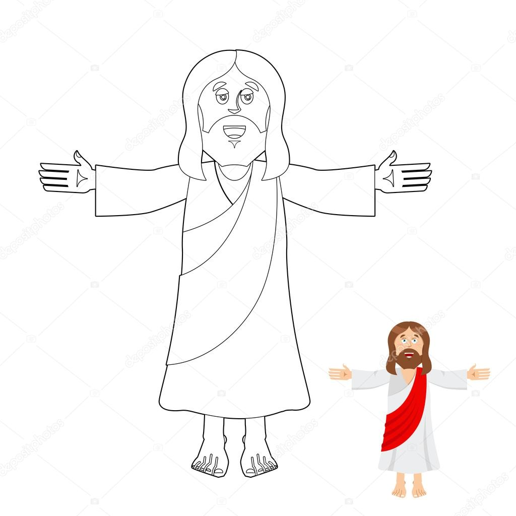 Jesus coloring book. Jesus christ drawing for children ...
