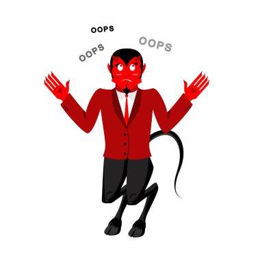 Satan speak OOPS. Surprised by demon. Red Devil is perplexed. Lu