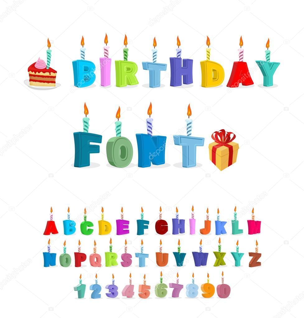 Abc Verjaardag.Verjaardag Abc Vakantie Lettertype Voor Ansichtkaarten