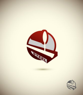 logo  steel industry. Concept design for the factory, the factor
