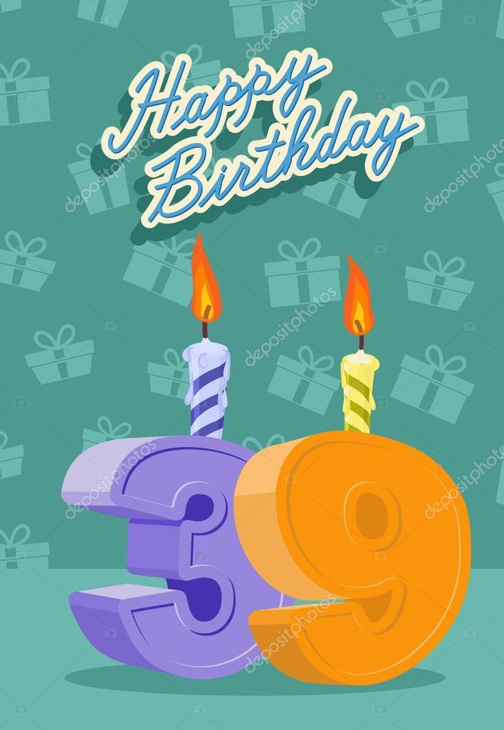 Открытки на день рождения 39 лет, июня стакан