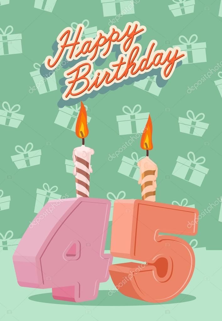 Buenos días!, me presento Depositphotos_66226107-stock-illustration-happy-birthday-age-45-announcement