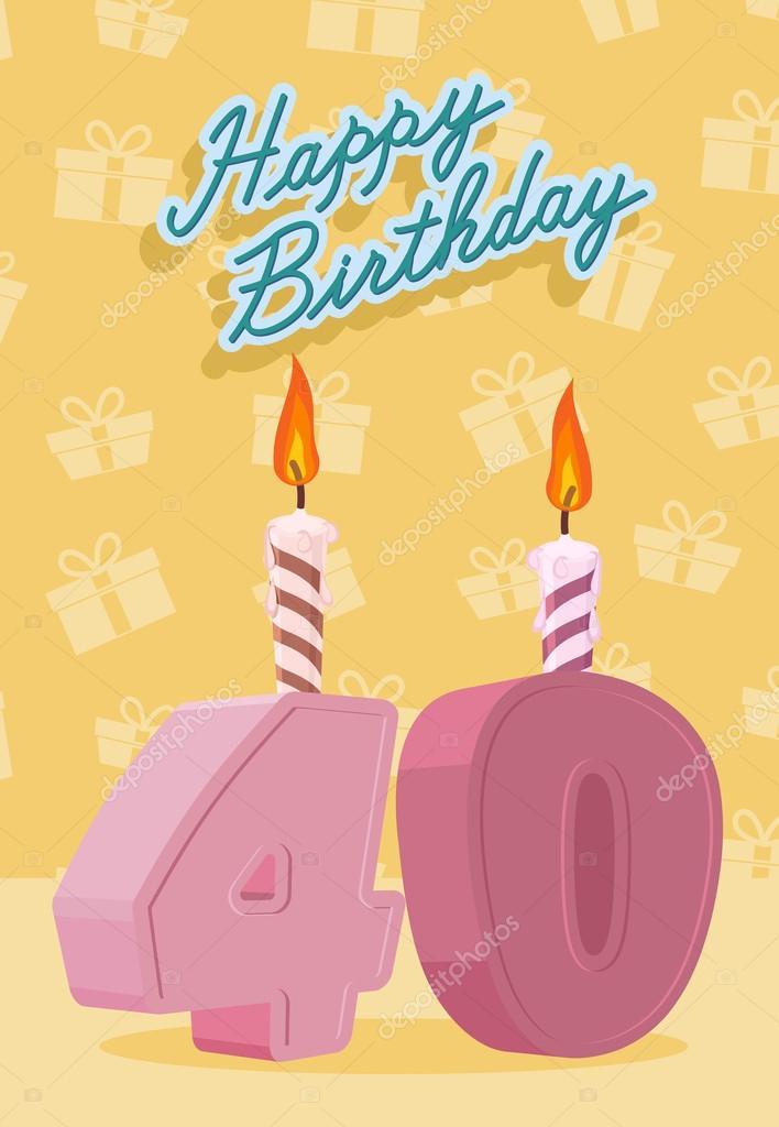 grattis på födelsedagen 40 år Grattis på födelsedagen 40 års ålder. Tillkännagivande och  grattis på födelsedagen 40 år