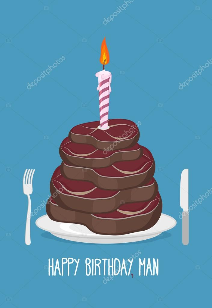 Fleischstucke Kuchen Alles Gute Zum Geburtstag Mann Kostlichen