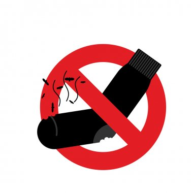 Ban dirty smelly socks. Mark is prohibited. Vector illustration