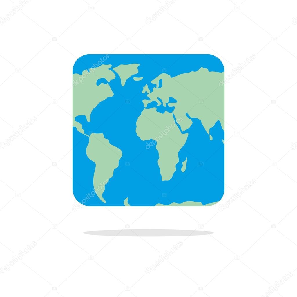 Square world map atlas of unusual shape square earth earth in square world map atlas of unusual shape square earth earth in vector gumiabroncs Choice Image