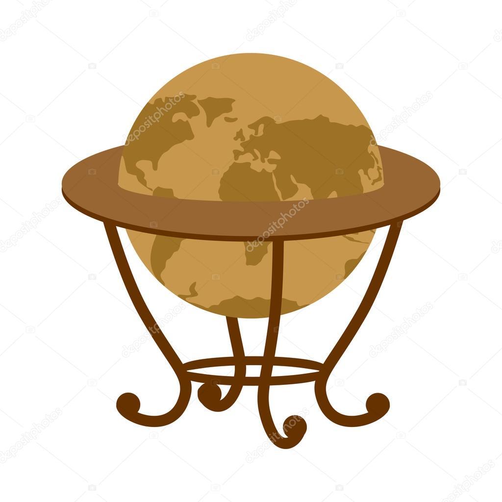antique vintage globe on stand vintage school globe model ball