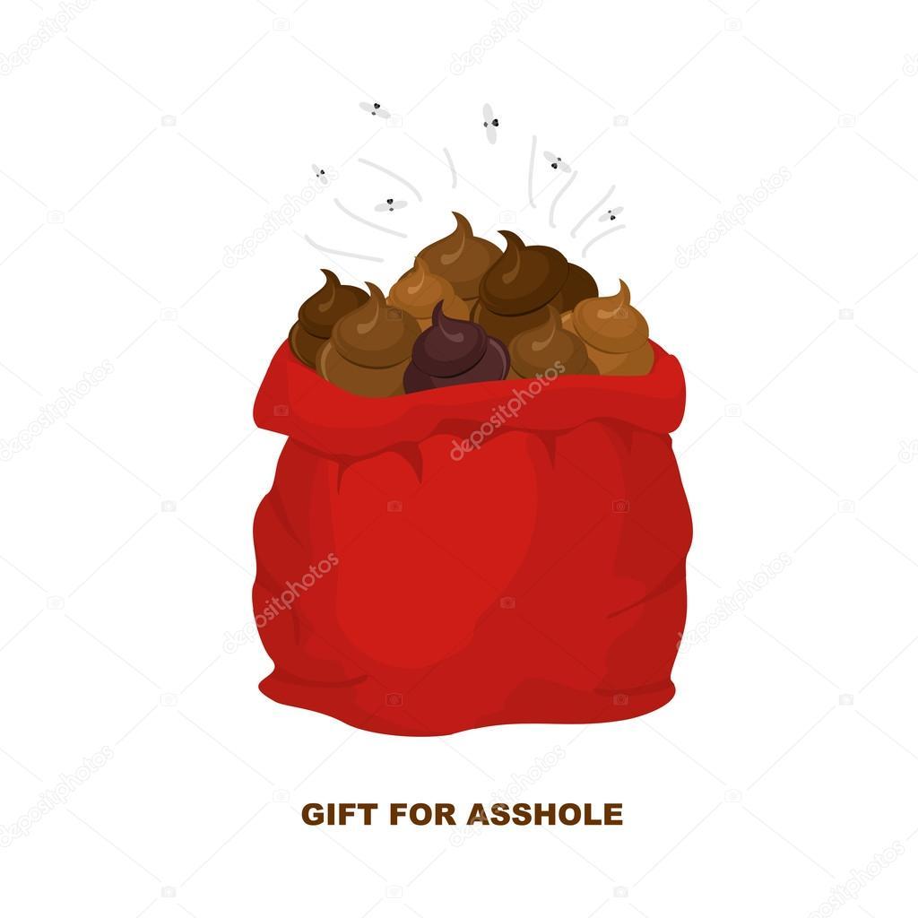 Weihnachtsgeschenke für schlechte Menschen. Weihnachtsmann mit Sack ...
