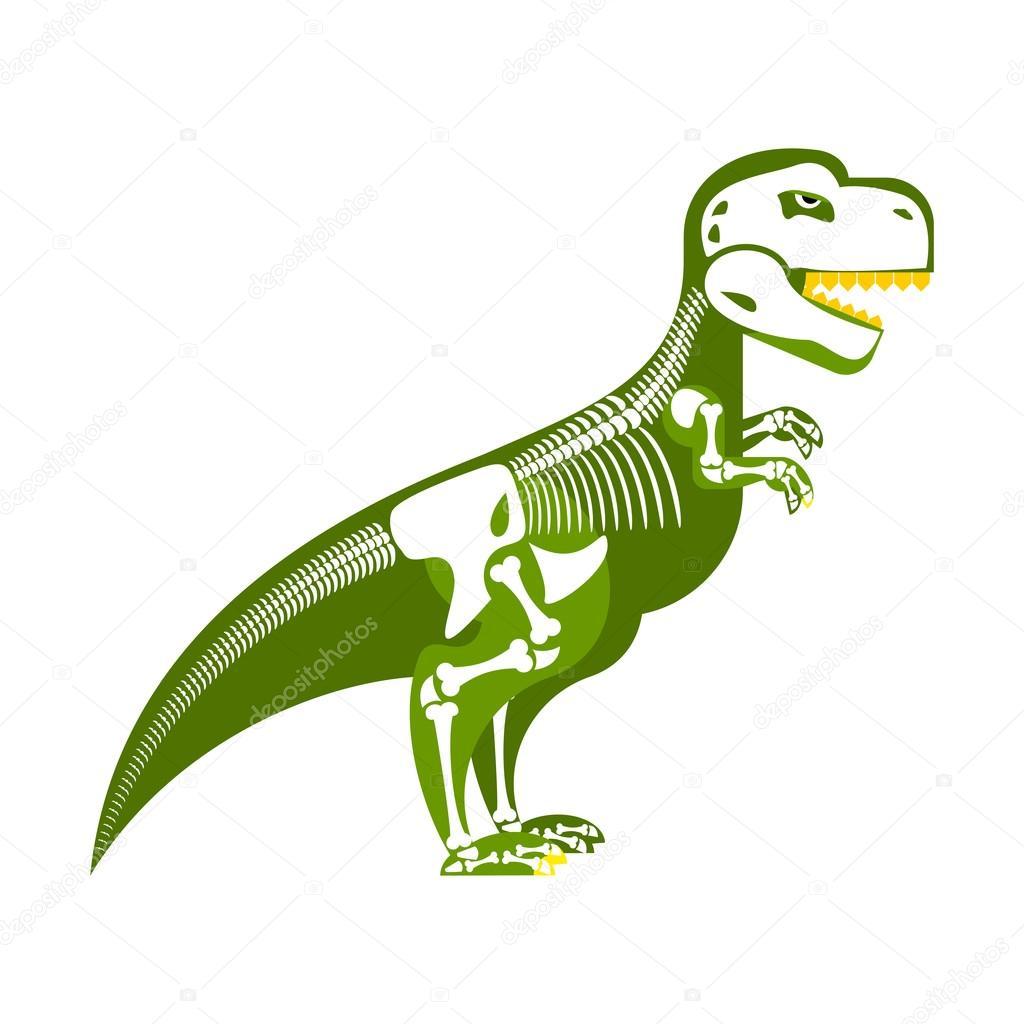 Esqueleto del dinosaurio. Hueso para arriba en mi cuerpo. T-Rex y ...