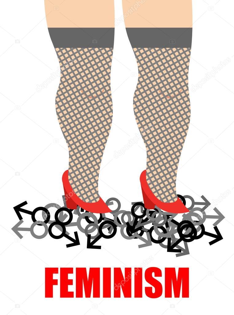 Женщина трамплинг ногами, ноги рабыни были босые и грязные