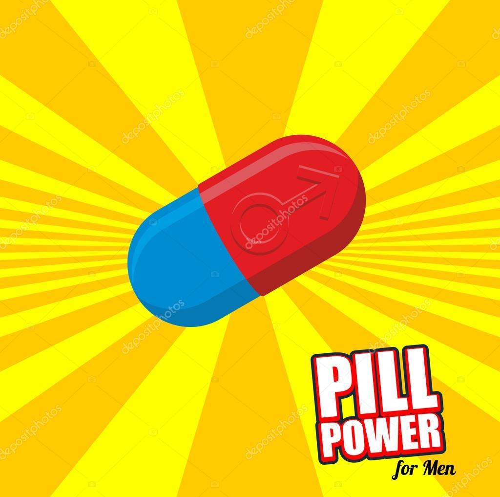 Власть таблетки для мужчин. Цвет таблетки для потенции. Лечения ...