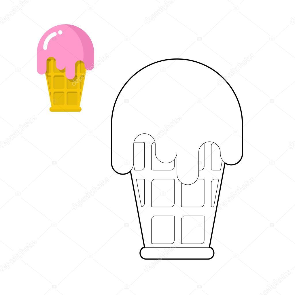 Creme Glacee Livre De Coloriage Dessin De Dessert Ligne A