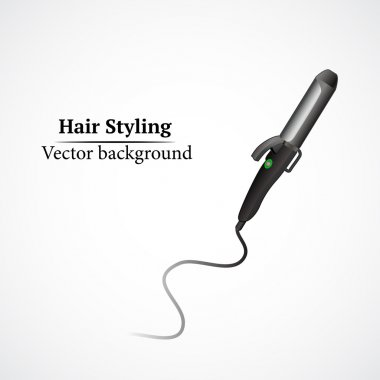 Hair styling, curling tong