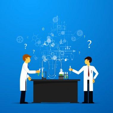 Studies in laboratory infographics.