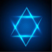 Photo Neon star of David