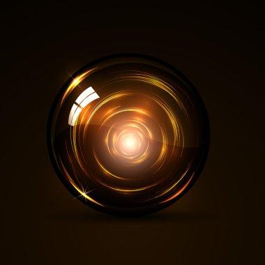 Glowing magic ball