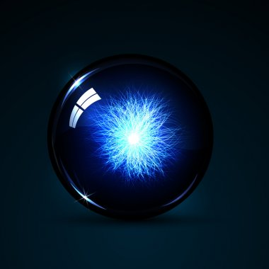 Glowing magic ball