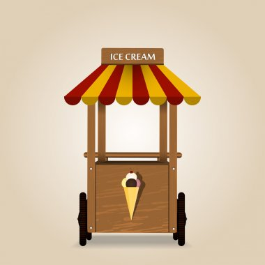Retro ice cream stand