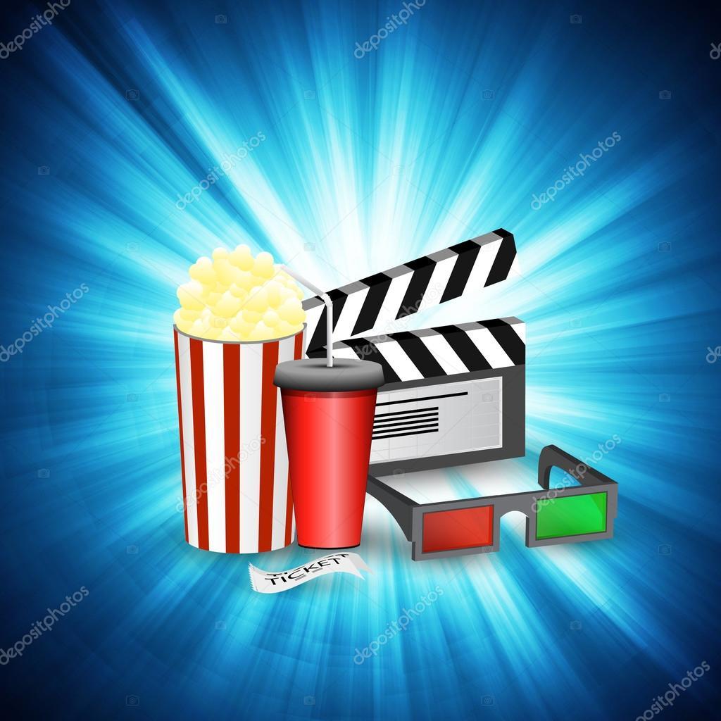 Cinema movie time sketch poster
