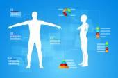 Infografika lidské tělo anatomie