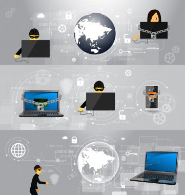 concept of the fight against viruses and attacks