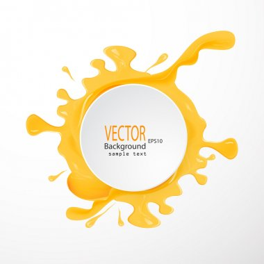 A set of vector honey drips  blots on white background clip art vector
