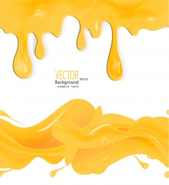 honey drips seamless patterns and blots