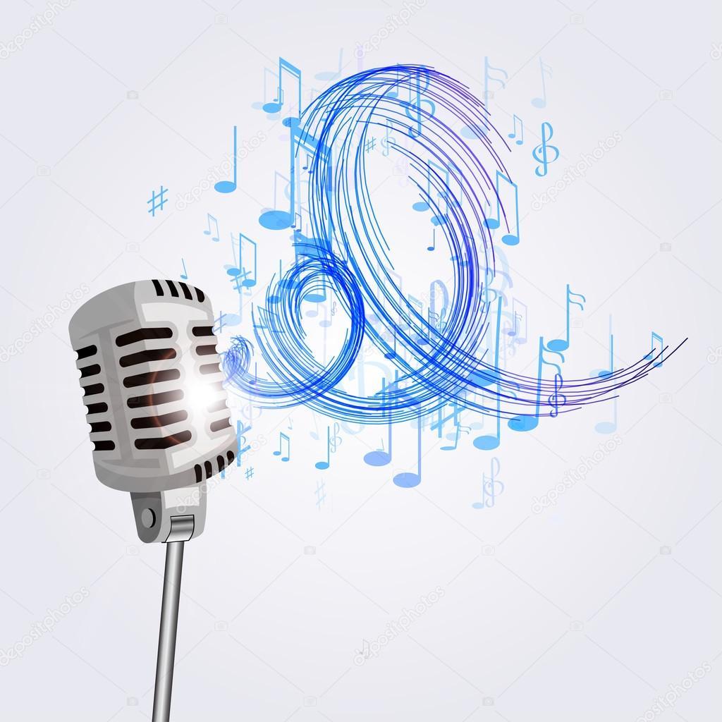 Resultado de imagen de micrófono musical
