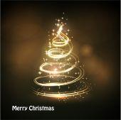 Vánoční strom před světlem