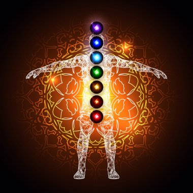 Aura and chakras concept
