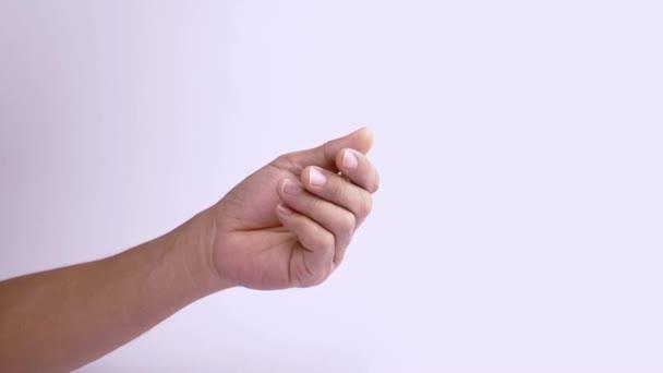 A tenyér, hüvelykujj dörzsölés a maradék 4 ujjal, fizetnie kell.