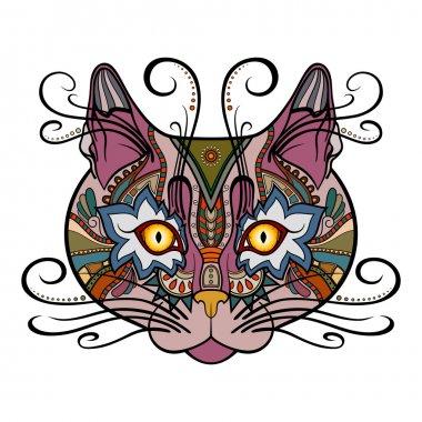 Vector Tribal Decorative Cat