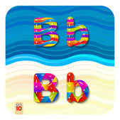Photo glossy, multicolored letters B