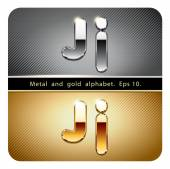 Photo chrome metal and gold letter J