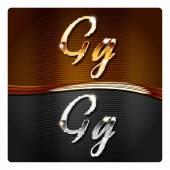 Photo Golden stylish italic letters G