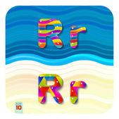 Fotografie Letters uppercase R and lowercase r