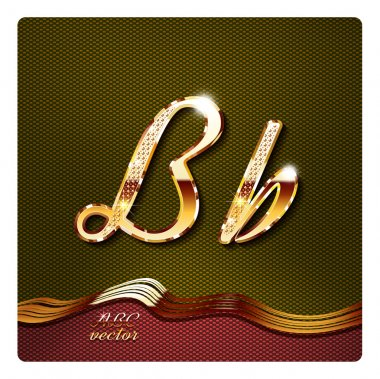 stylish gold cursive letters
