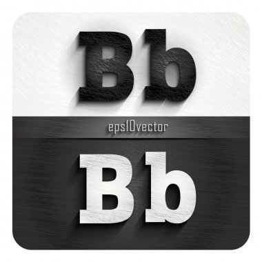 stylish black and white letters B