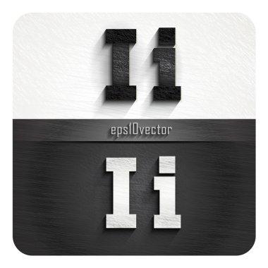 stylish black and white letters I