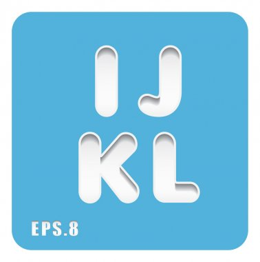paper letters I, J, K, L