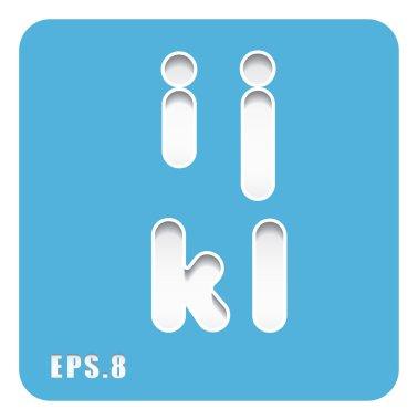 lowercase letters i, j, k, l