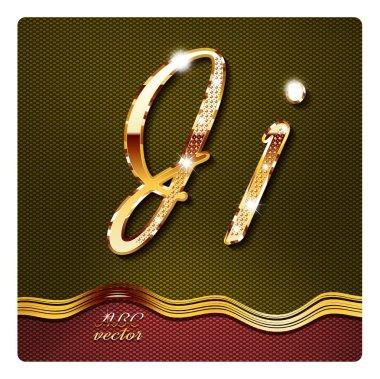 gold cursive letters