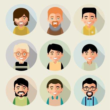 set of cartoon characters of boys
