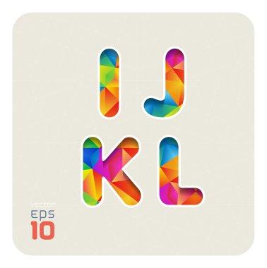 Capital letters I, J, K, L