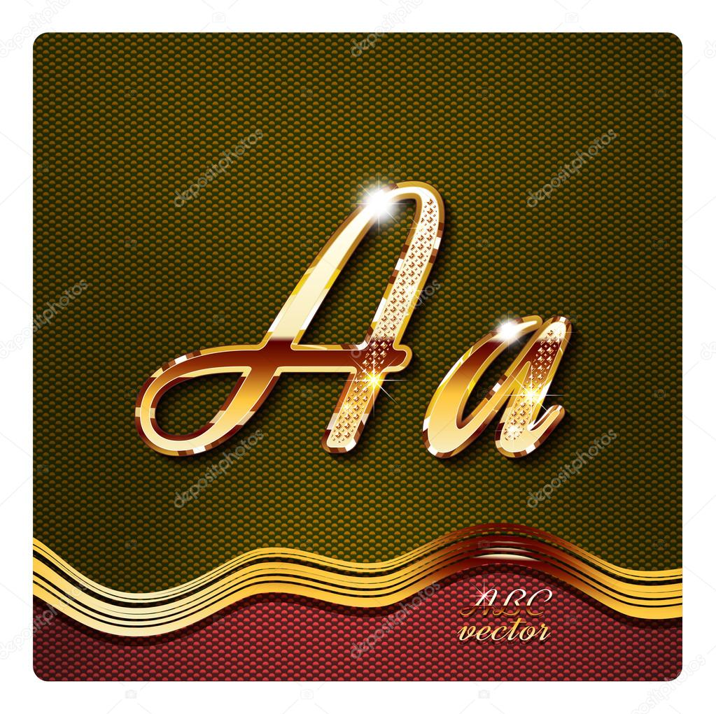 Stylish gold cursive letters a stock vector mrster 73202825 stylish gold cursive letters a stock vector thecheapjerseys Images